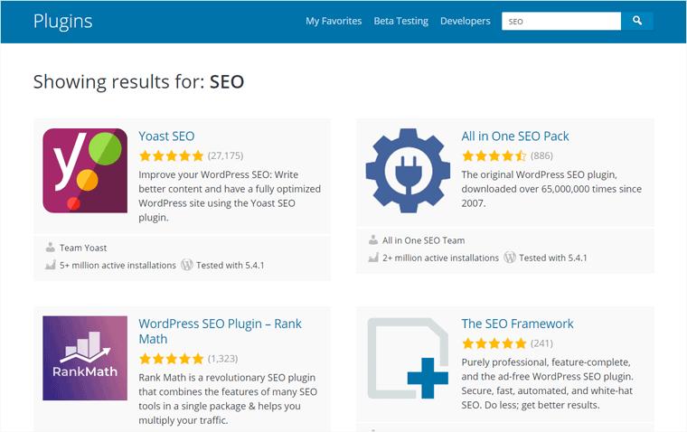 Searching SEO WordPress Plugin