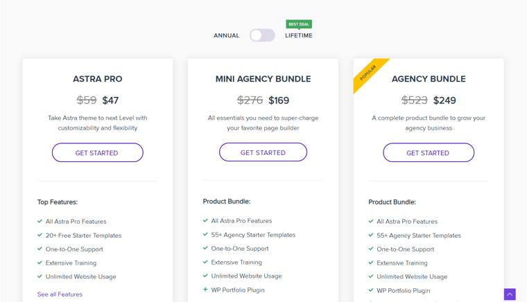 Astra Paid Version Pricing