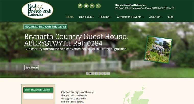 Bed and Breakfast Nationwide Brochure Website