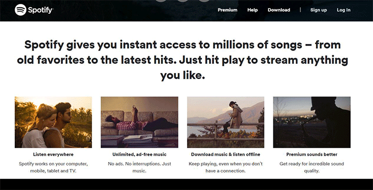 Spotify Entertainment Website