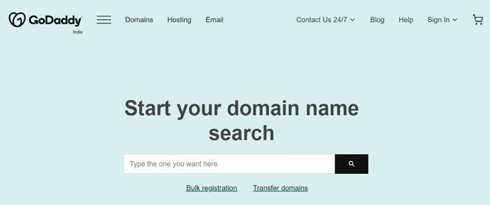 Domain Name Registration with GoDaddy
