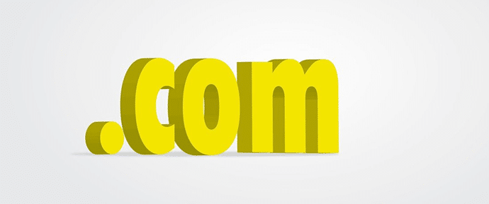 '.com' Most Popular Domain Name Extension
