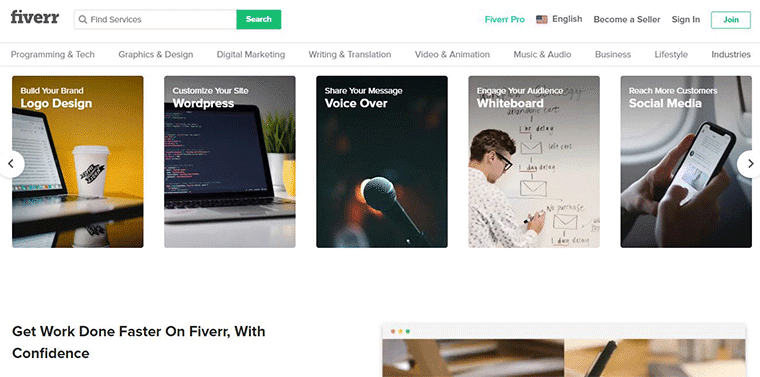Fiverr Online Job Website