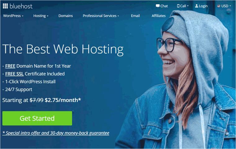 Bluehost Hosting Service