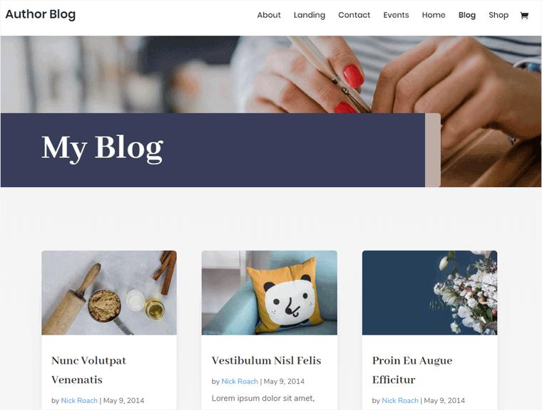 Divi Blog Theme