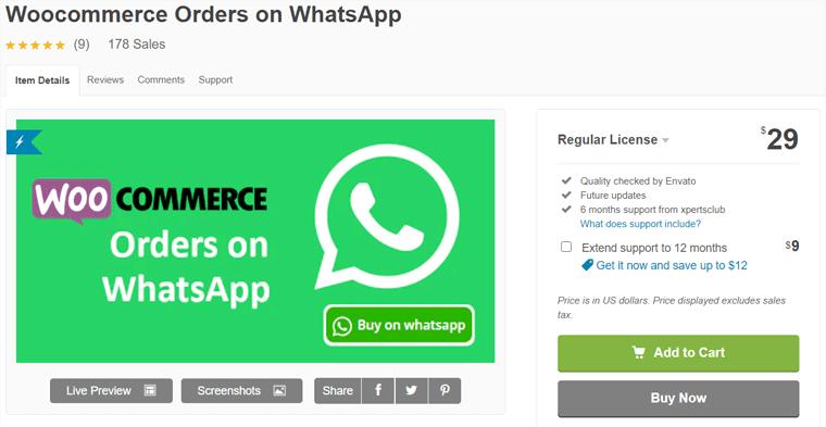 WooCommerce Order On Whatsapp Plugin