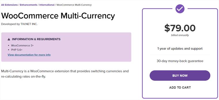 WooCommerce Multi-Currency Plugin