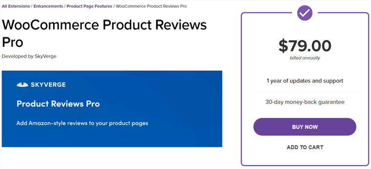WooCommerce Product Reviews Pro Plugin