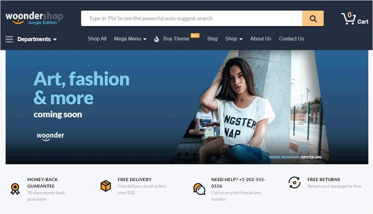 WoonderShop WooCommerce Theme