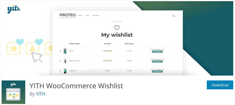 WooCommerce YITH Wishlist Plugin
