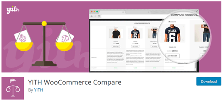 WooCommerce YITH Compare Plugin