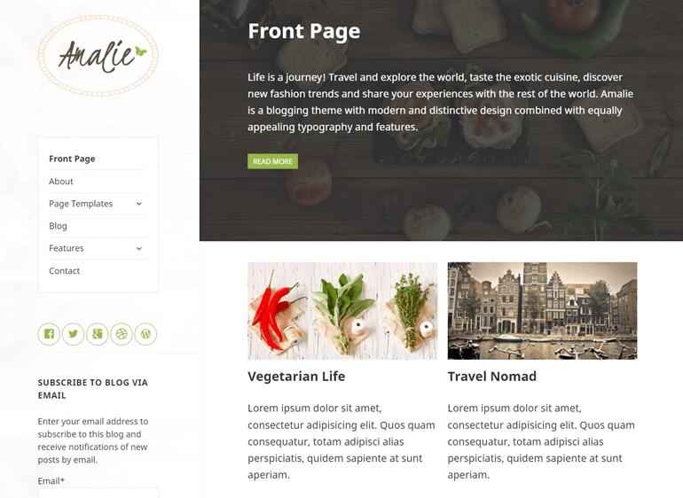Amelia WordPress Theme