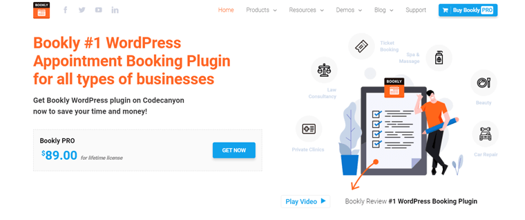 Bookly Pro WordPress Appointment Booking Plugin