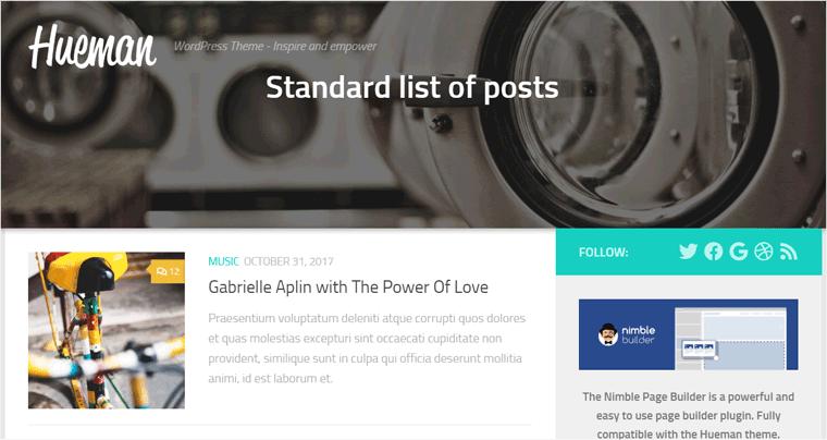 Hueman WordPress Theme for Blog