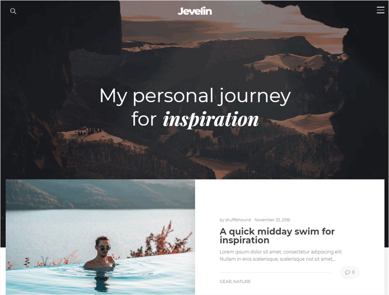 Jevelin WordPress Theme Demo