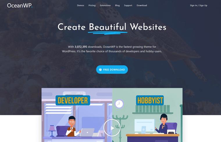 OceanWP Popular WordPress Theme Free