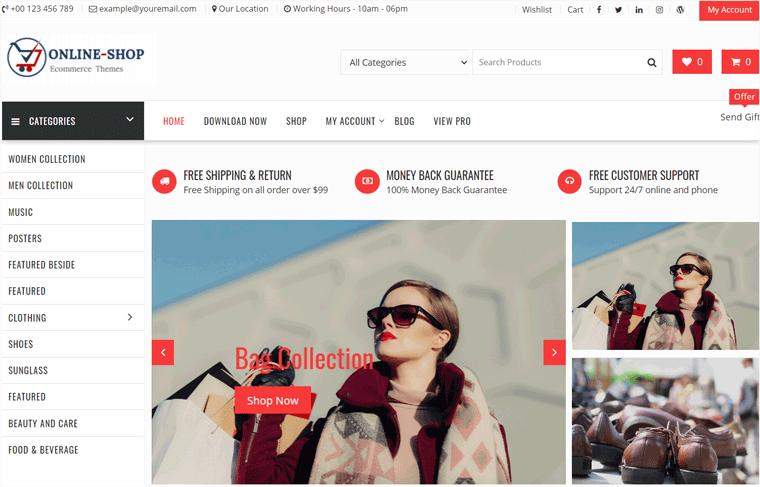 Online Shop WooCommerce Theme