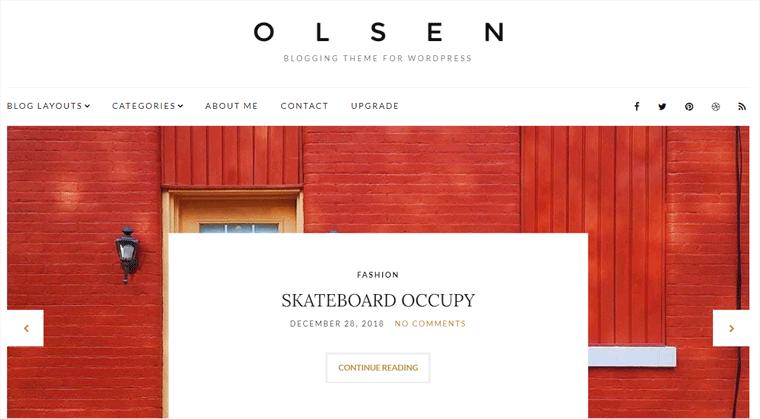Olsen WordPress Blog Theme