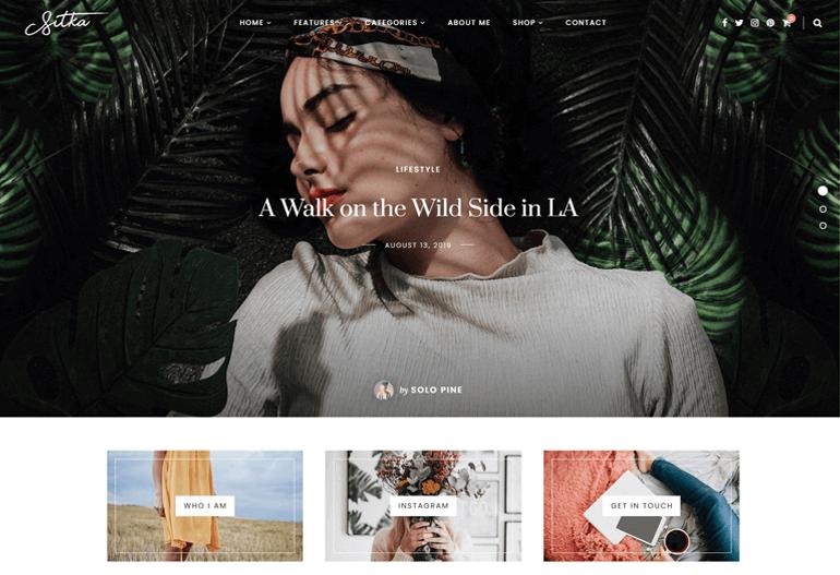 Sitka WordPress Blog Theme Demo