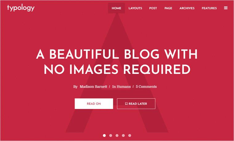 Typology WordPress Theme