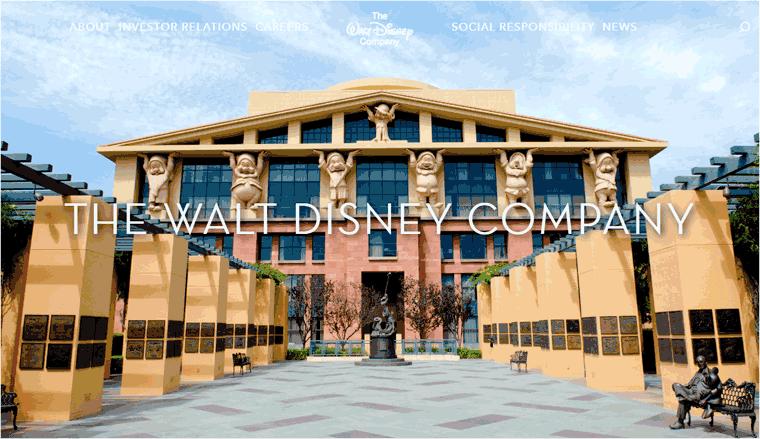 Walt Disney Business Site Example