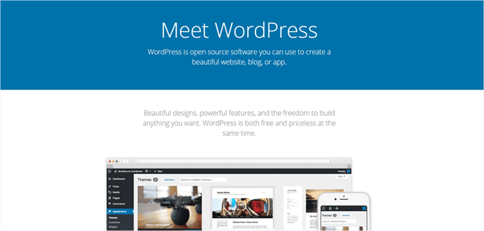 WordPress CMS Software