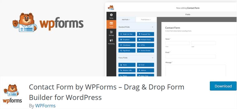 WPForms Free WordPress Plugin