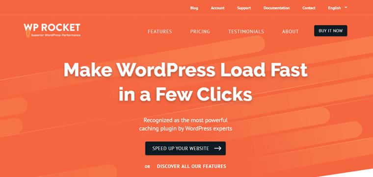 WP Rocket WordPress Speed Optimization Plugin
