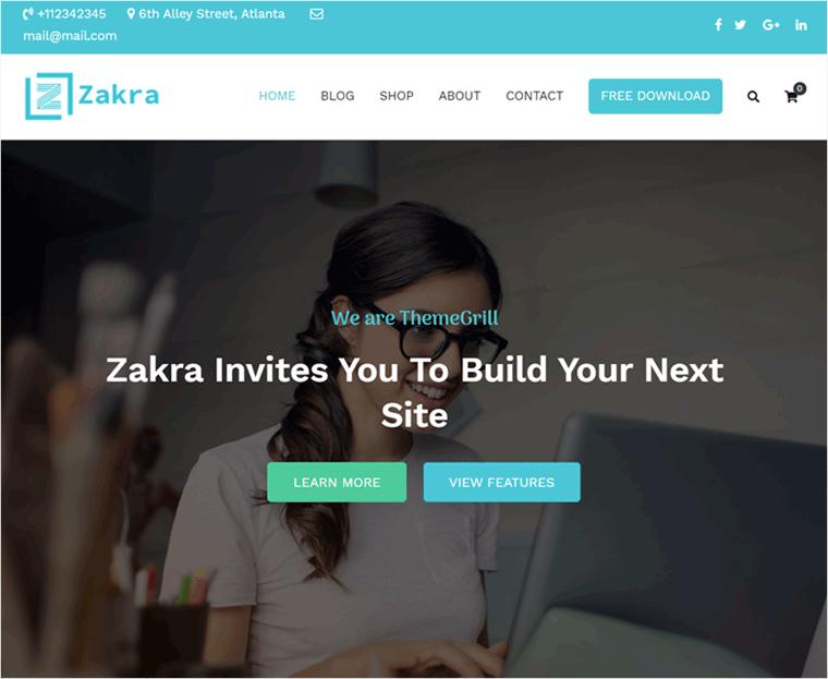 Zakra WordPress Business Theme