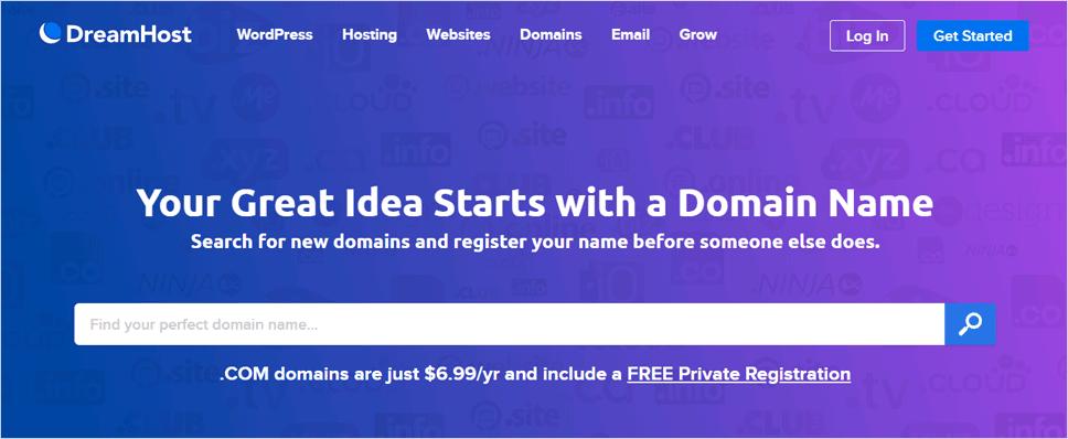 DreamHost Domain Name Registrar