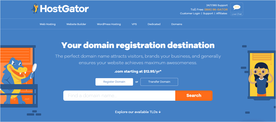 HostGator Domain Name Registrar