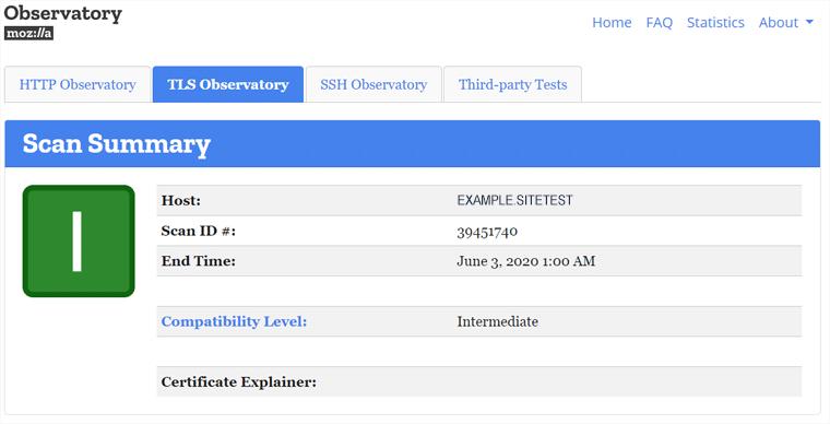 Mozilla Observatory Website Security Scanner