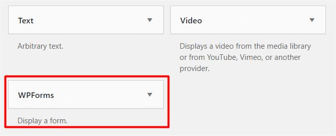 WPForms Custom Widget