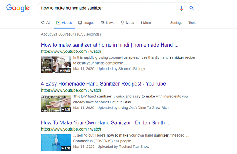 Rank Videos in Google