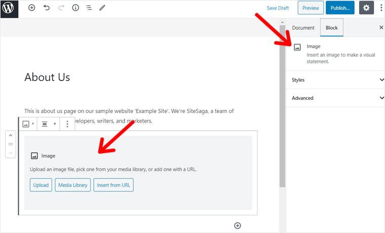 Adding Image in WordPress Block Editor