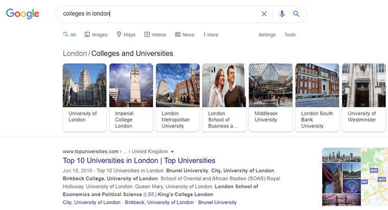 Google Local Search Result
