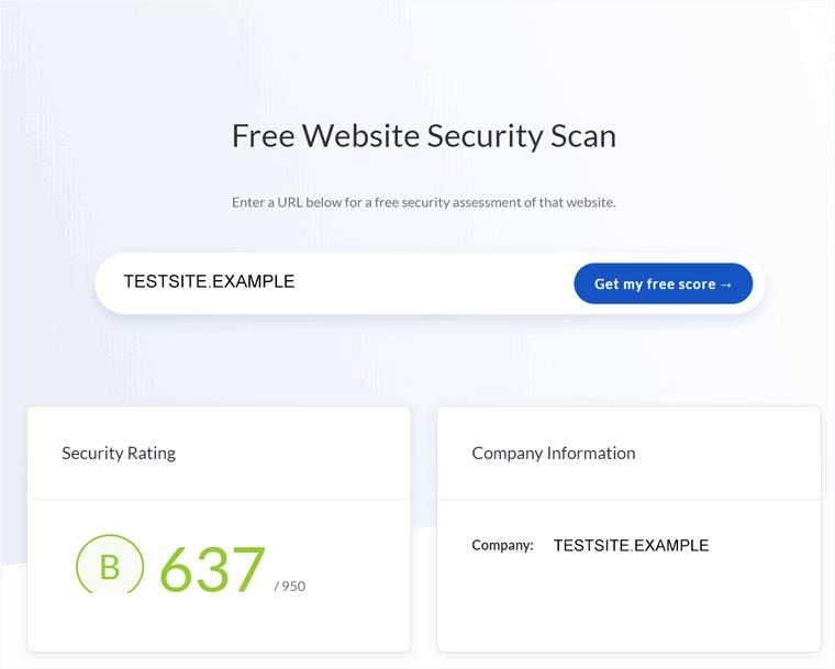 UPGuard Website Security Scanner