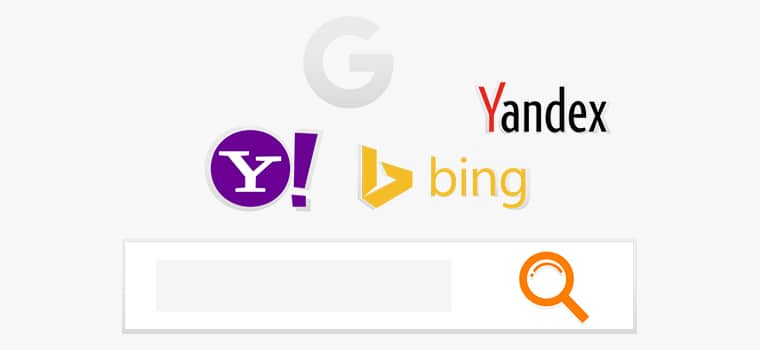 Search Engines like google and yahoo
