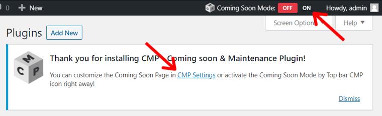 Enable Coming Soon Mode in WordPress