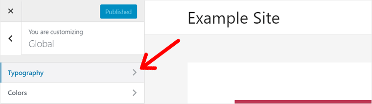 Typography Option in Astra WordPress Theme