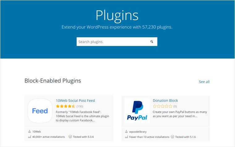 WordPress Plugins Official Repository