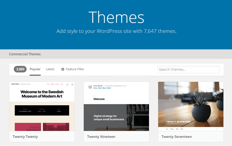 Official WordPress Themes Repository