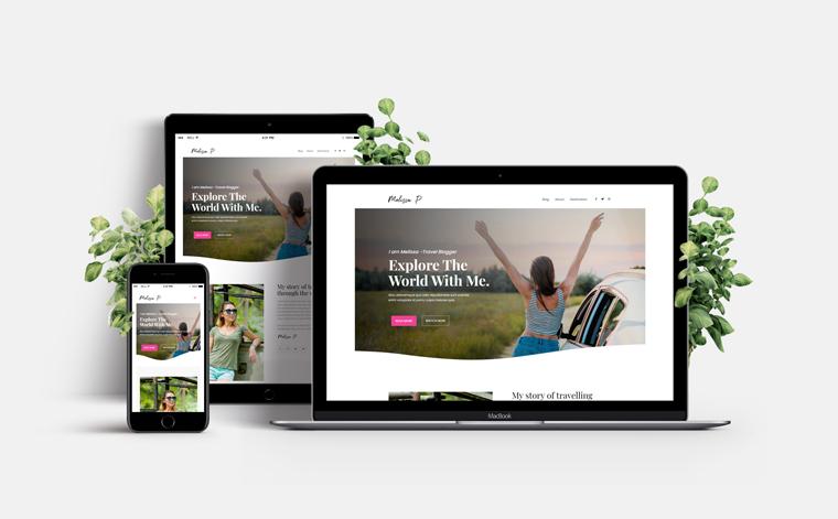 Astra WordPress Theme Demo Site on Different Screens