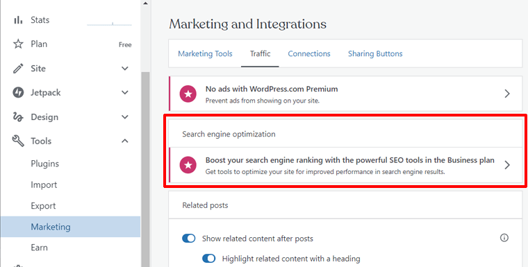 SEO Tools on WordPress.com