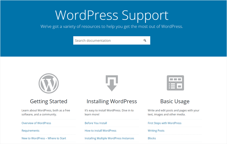 WordPress.org Support Page