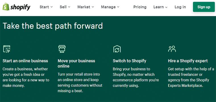 Shopify as a CMS