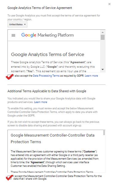 Data Sharing Setup