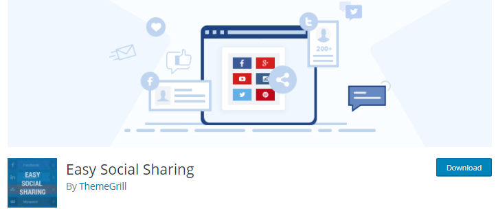 Social Share WordPress Plugin for Blogs - Easy Social Sharing