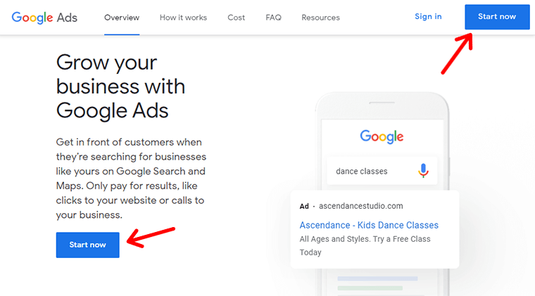 Starting Search Engine Marketing Campaign with Google Ads