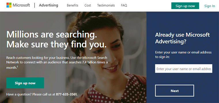 Microsoft Advertising Bing Ads Home Page